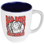 an image of a Mug with the Bad Boys Bail Bonds Logo