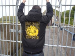 Bad-Boys-Bail-Bonds-Jacket-Sighting-at-the-prison-in-Portland-England
